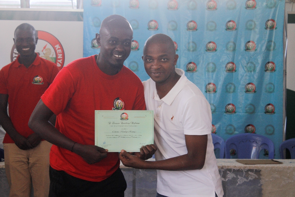 CAF D License Coaching Course concludes in Huruma, Instructors' course lined up