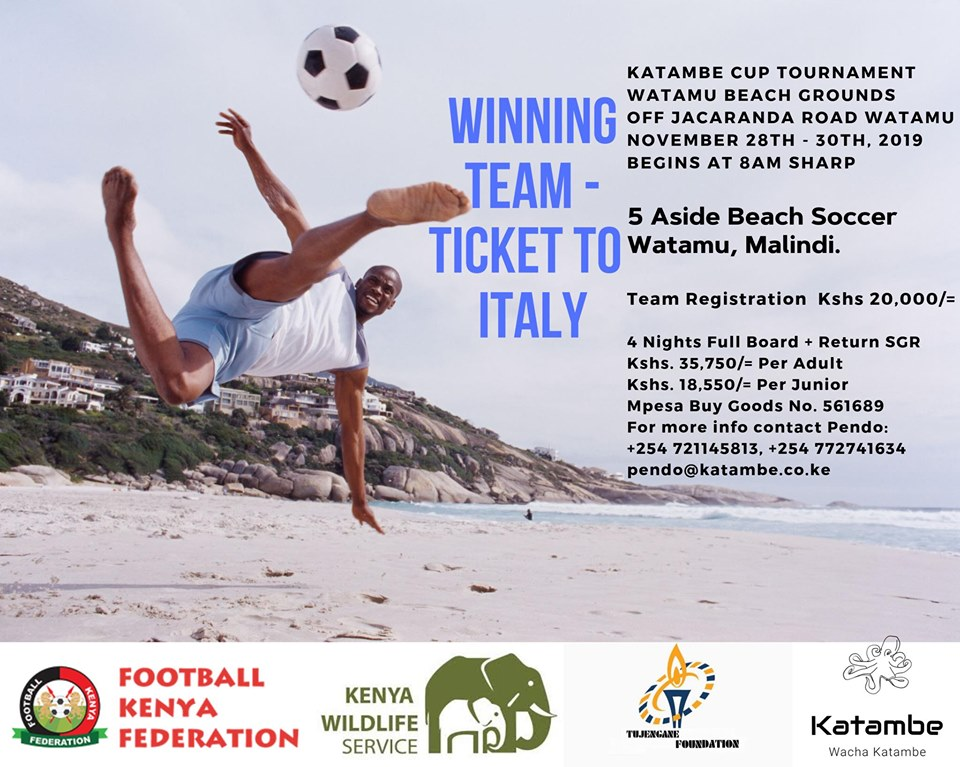 FKF, Katambe Enterprises line up Watamu Beach Soccer tournament