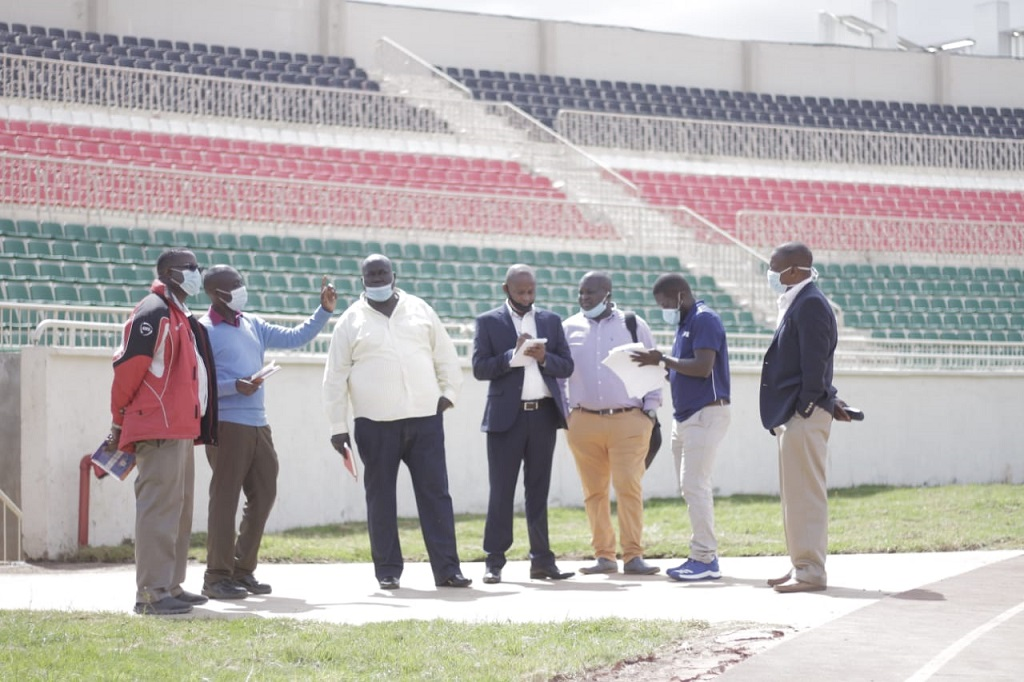 FKF IMOC appraises refurbished Nyayo Stadium ahead of scheduled CAF inspection visit