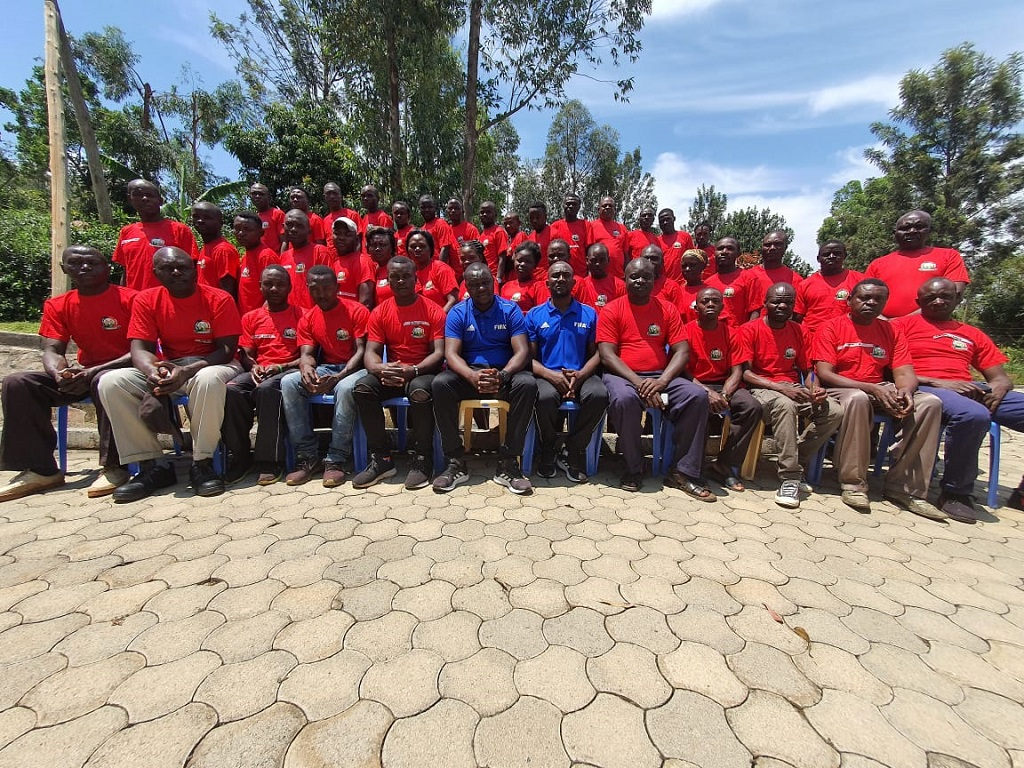 CAF D License Coaching Course takes shape in Luanda.