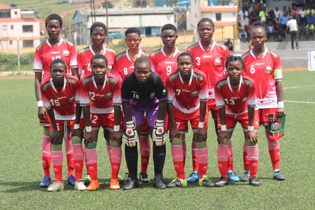 Kenya U17 Girls' team starting lineup ahead of game against Eritrea