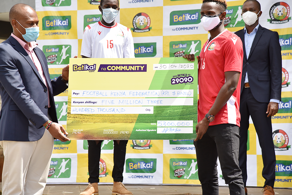 FKF, Betika unveil KES 5.3 Million package for KPL, NSL clubs in wake of Covid-19 pandemic