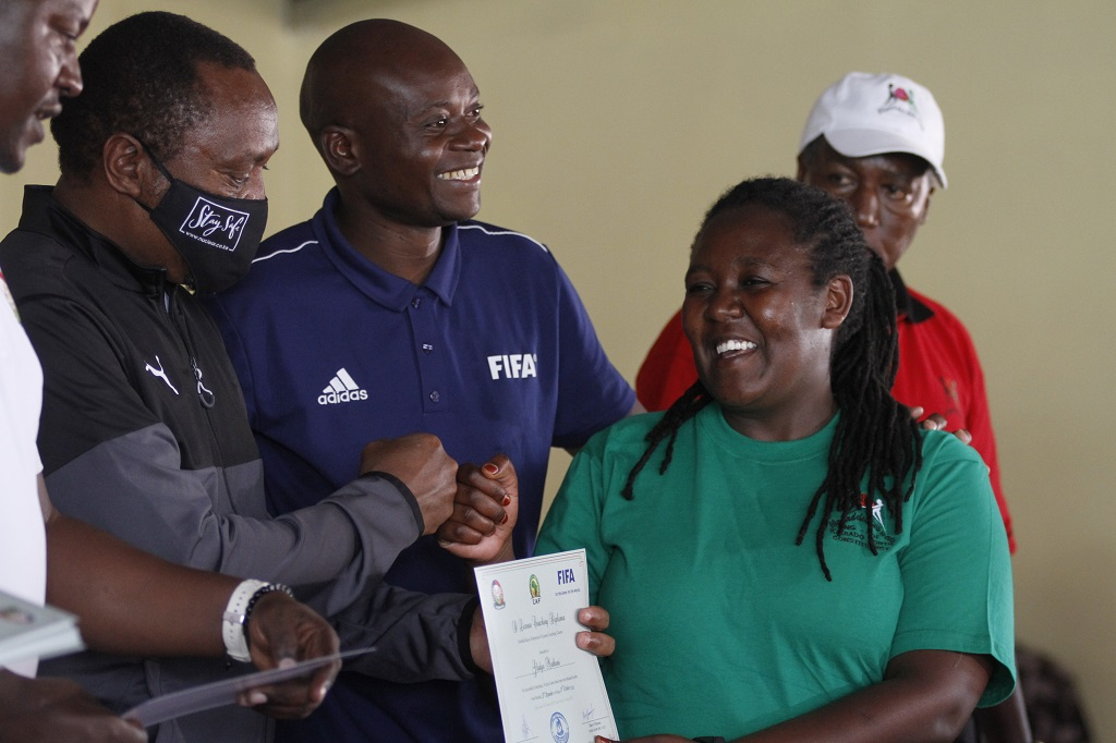 CAF D License Coaching Course concludes in Kajiado North