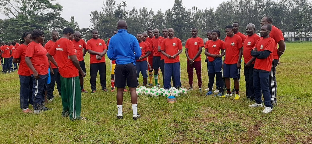 Luanda CAF D coaches sit for practicals in coaching course