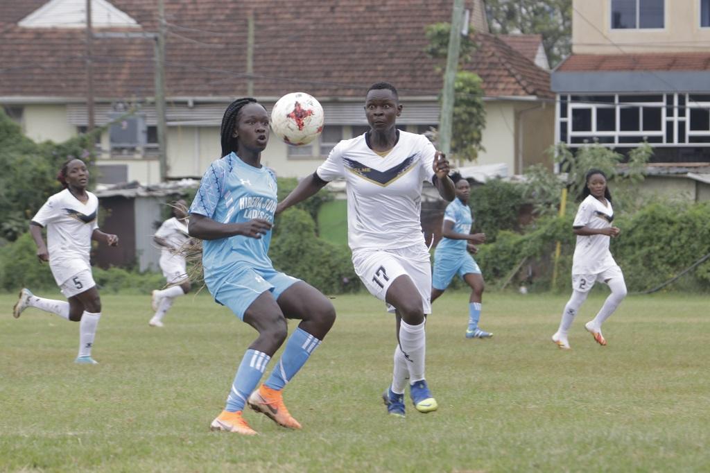 Kibera Soccer Ladies vs Ulinzi Starlets action
